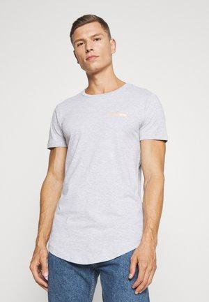 Basic T-shirt - light stone/grey melange