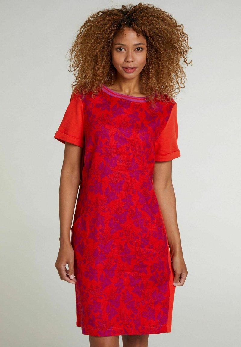 Oui - Jersey dress - red violett