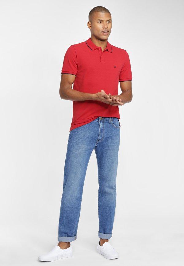 Wrangler SS PIQUE - Koszulka polo - red/czerwony Odzież Męska KTLG