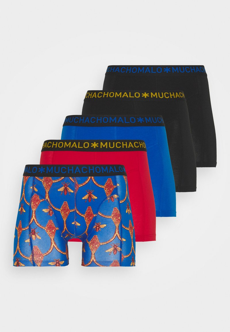 MUCHACHOMALO - BEEHIVE 5 PACK - Boxerky - royal blue/red/black
