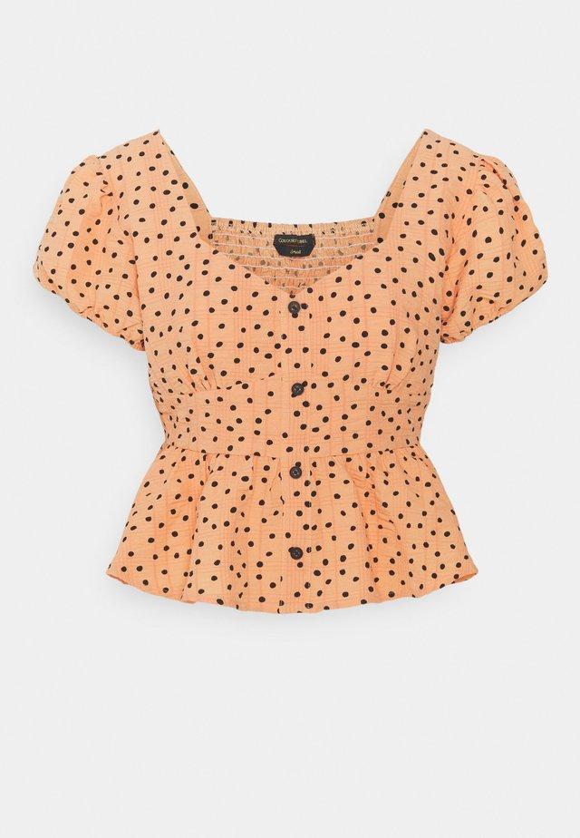 CARMEN POLKADOT BALCONETTE TOP  - T-shirt med print - orange