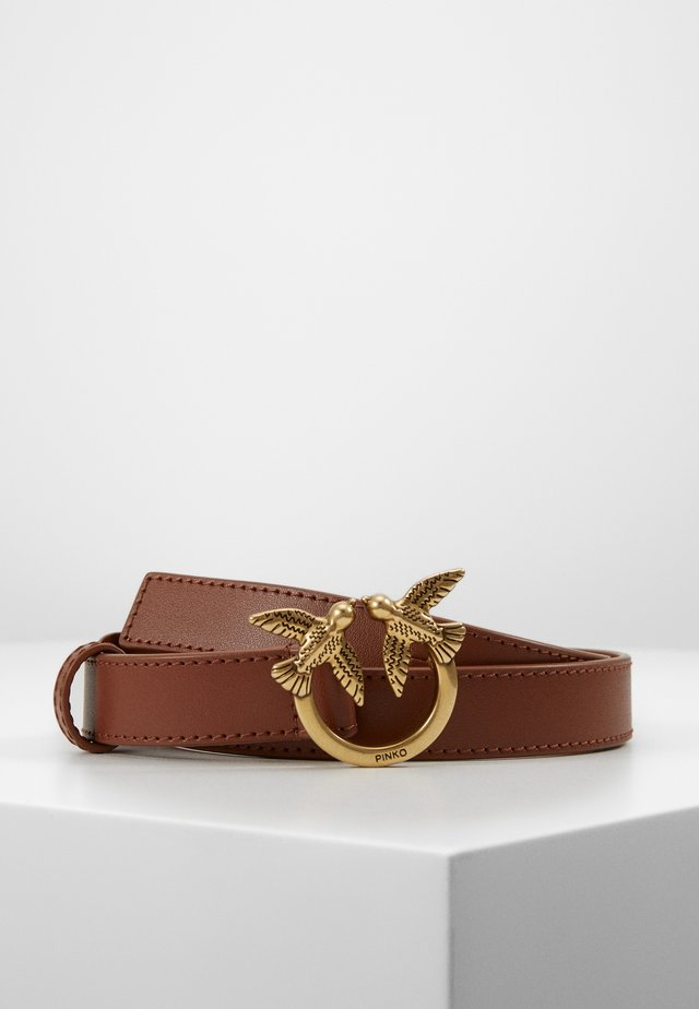 BBERRY SMALL SIMPLY BELT - Bælter - brown