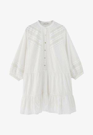 MIT SPITZE - Shirt dress - white