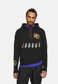 Jordan - HOODIE - Sweatshirt - black/cyber - 0