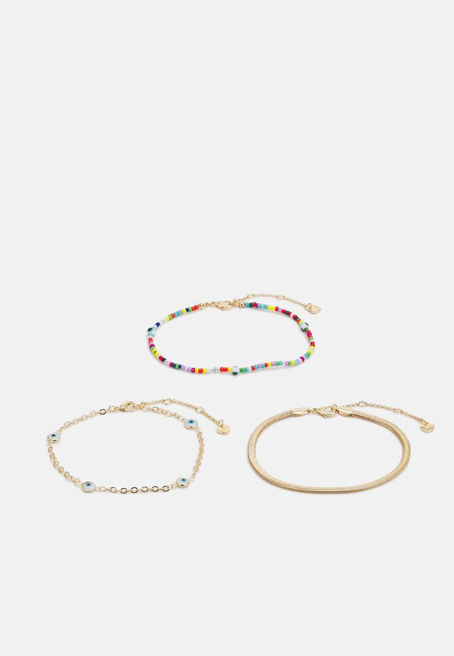 FAUWEN 3 PACK - Armband - bright multi/gold-coloured