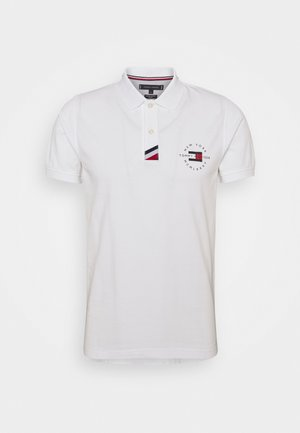 PLACKET SLIM - Polo - white