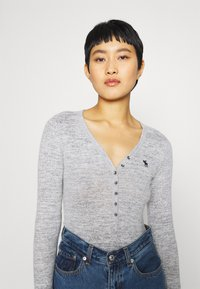 Abercrombie & Fitch - COZY HENLEY  - Long sleeved top - grey - 4