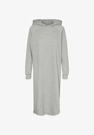 LONGLINE SWEAT - Day dress - light grey melange