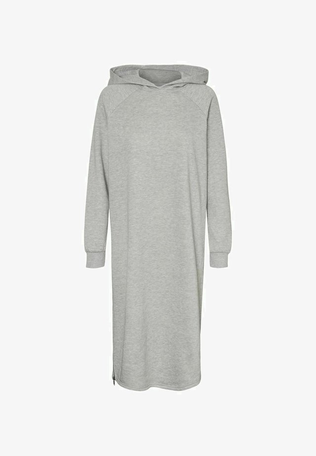 LONGLINE SWEAT - Korte jurk - light grey melange
