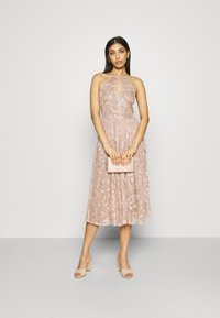 Lace & Beads - ADELAIDE MIDI - Cocktail dress / Party dress - taupe - 1