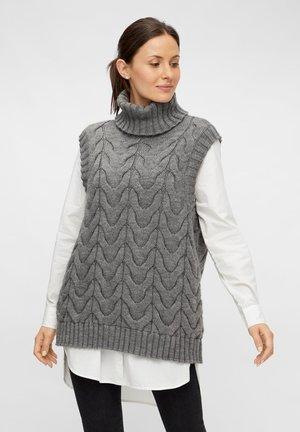 Waistcoat - dark grey melange