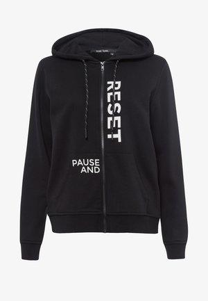Zip-up sweatshirt - black varied