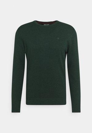 BASIC CREW NECK  - Sweter - dark moss green melange
