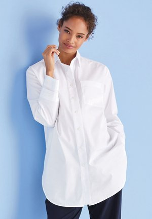 MATERNITY SLEEVE DETAIL OVERSIZED SHIRT - Button-down blouse - white