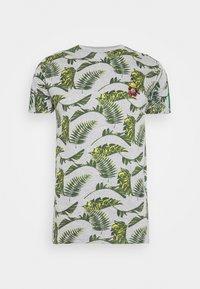 Brave Soul - FERNS - T-shirt print - grey/multi-coloured/bottle green/white - 3