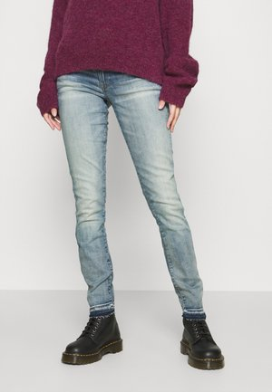 3301 MID SKINNY RIPPED ANKLE  - Jeans Skinny Fit - antic faded lapo blue