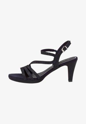 Sandalen met hoge hak - navy metallic