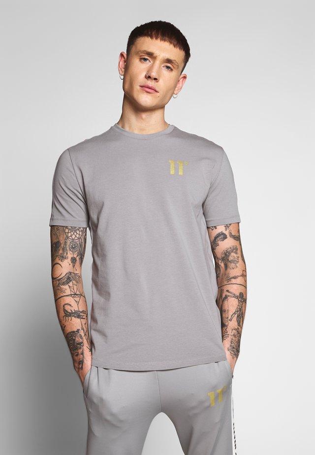 ASYMETRIC - Print T-shirt - silver