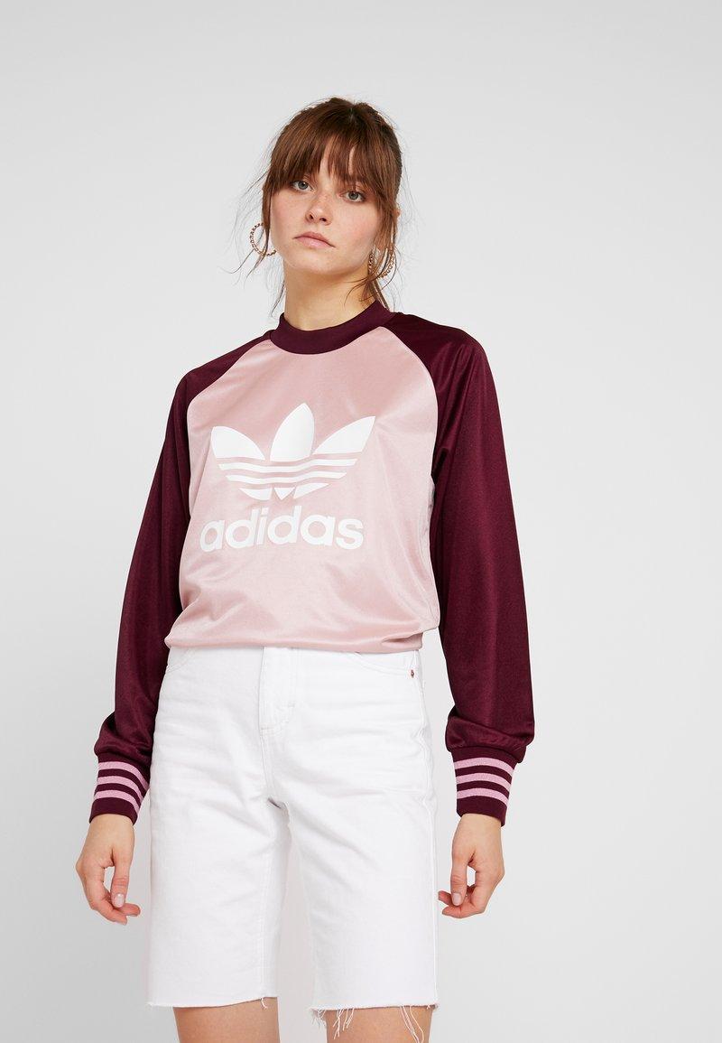 adidas Originals - LONGSLEEVE - Top sdlouhým rukávem - pink spirit/maroon