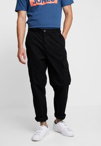 New Look - WASHED COMBAT - Cargobukse - black - 0