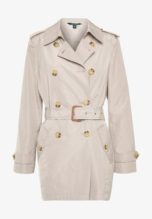 FAUX MEMORY SOFT TAFFETA TRENCH - Trench - birch