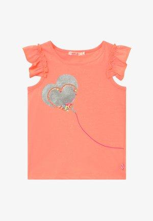T-shirt med print - peach
