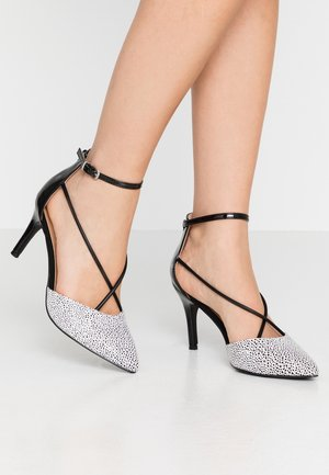 CECILIA - Pumps - black/white