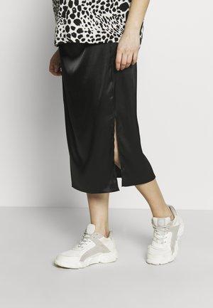 MATERNITY OVER BUMP SLIP SKIRT - Pouzdrová sukně - black