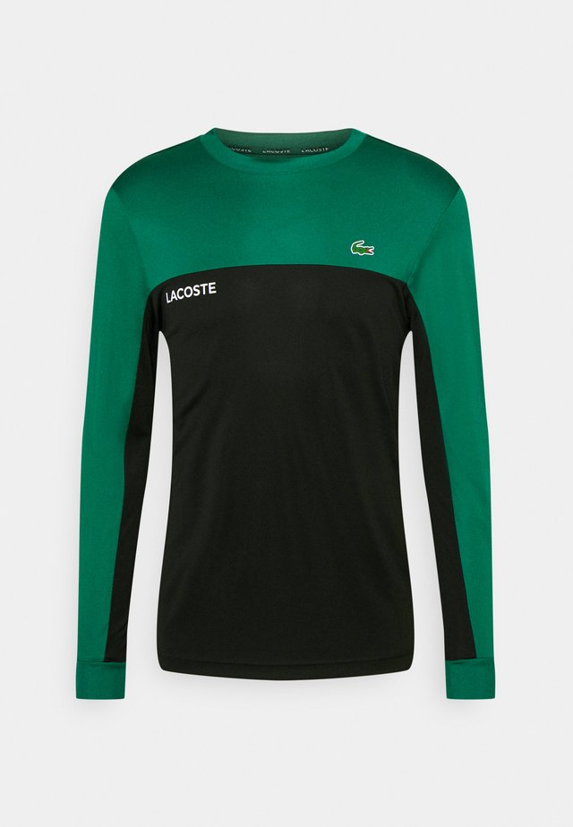 TENNIS BLOCK - Sportshirt - black/bottle green