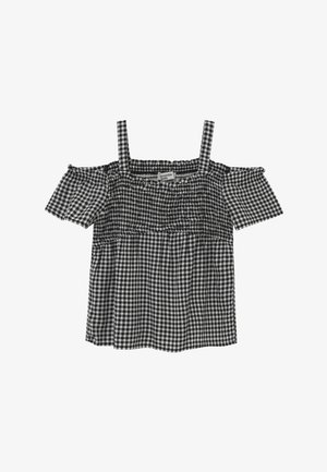CROSSOVER - Blouse - black gingham