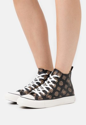 Sneakers hoog - brown/ocra