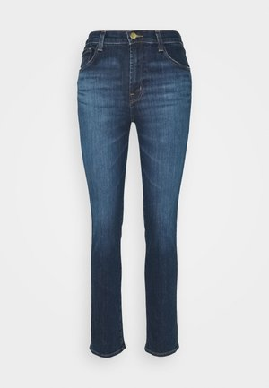 HIGH RISE CROP CIGARETTE - Jeansy Straight Leg - arcade