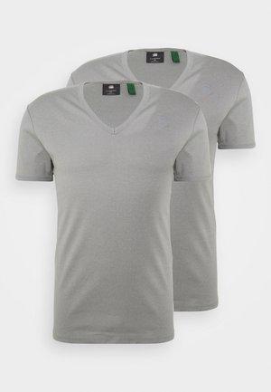 BASE 2 PACK - Basic T-shirt - charcoal