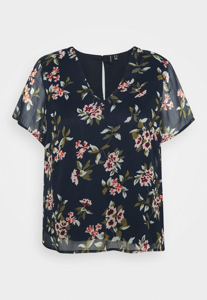 Vero Moda Curve - VMKAY - Print T-shirt - navy blazer