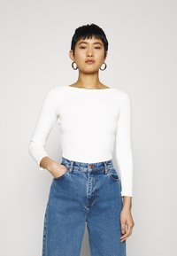 Zign - PREMIUM 3/4 Sleeve - Long sleeved top - off-white - 0