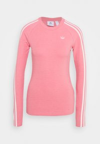 adidas Originals - LONG SLEEVE TEE - T-shirt à manches longues - hazy rose/white - 5