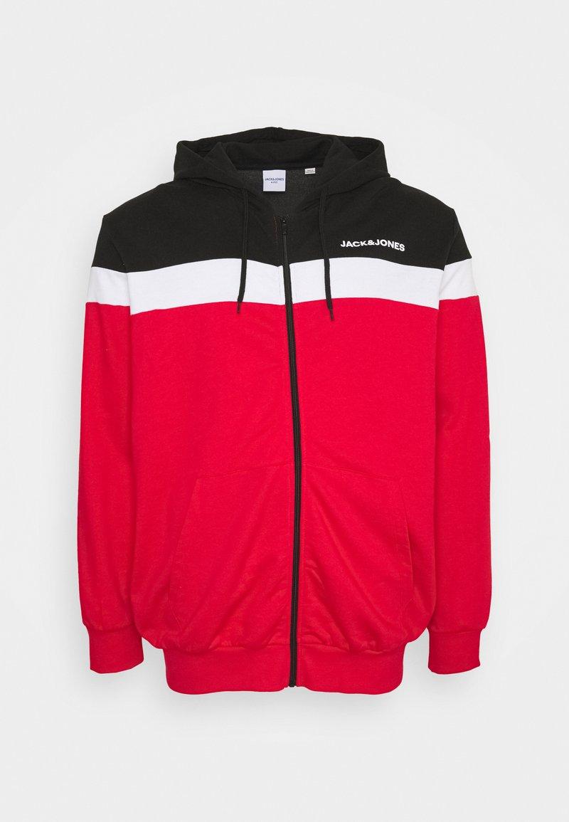 Jack & Jones - JJSHAKE - Zip-up hoodie - true red