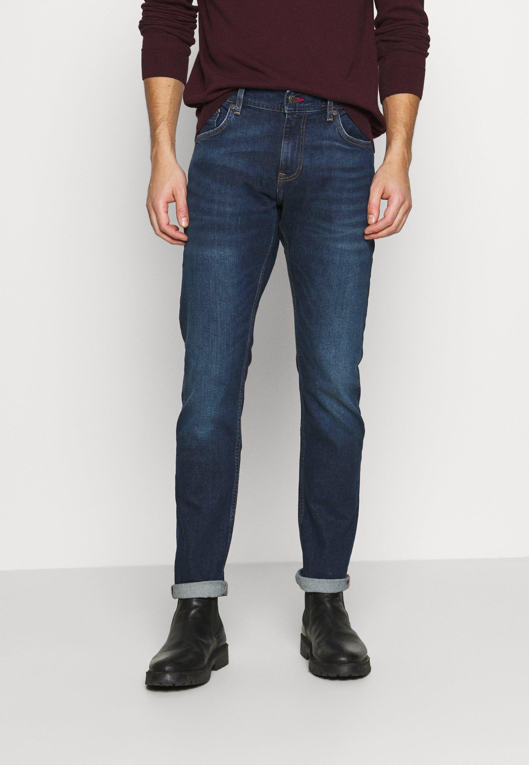 Men SLIM BLEECKER BOWIE BLUE - Slim fit jeans - dark blue