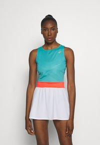 ASICS - TENNIS DRESS - Jersey dress - techno cyan - 0