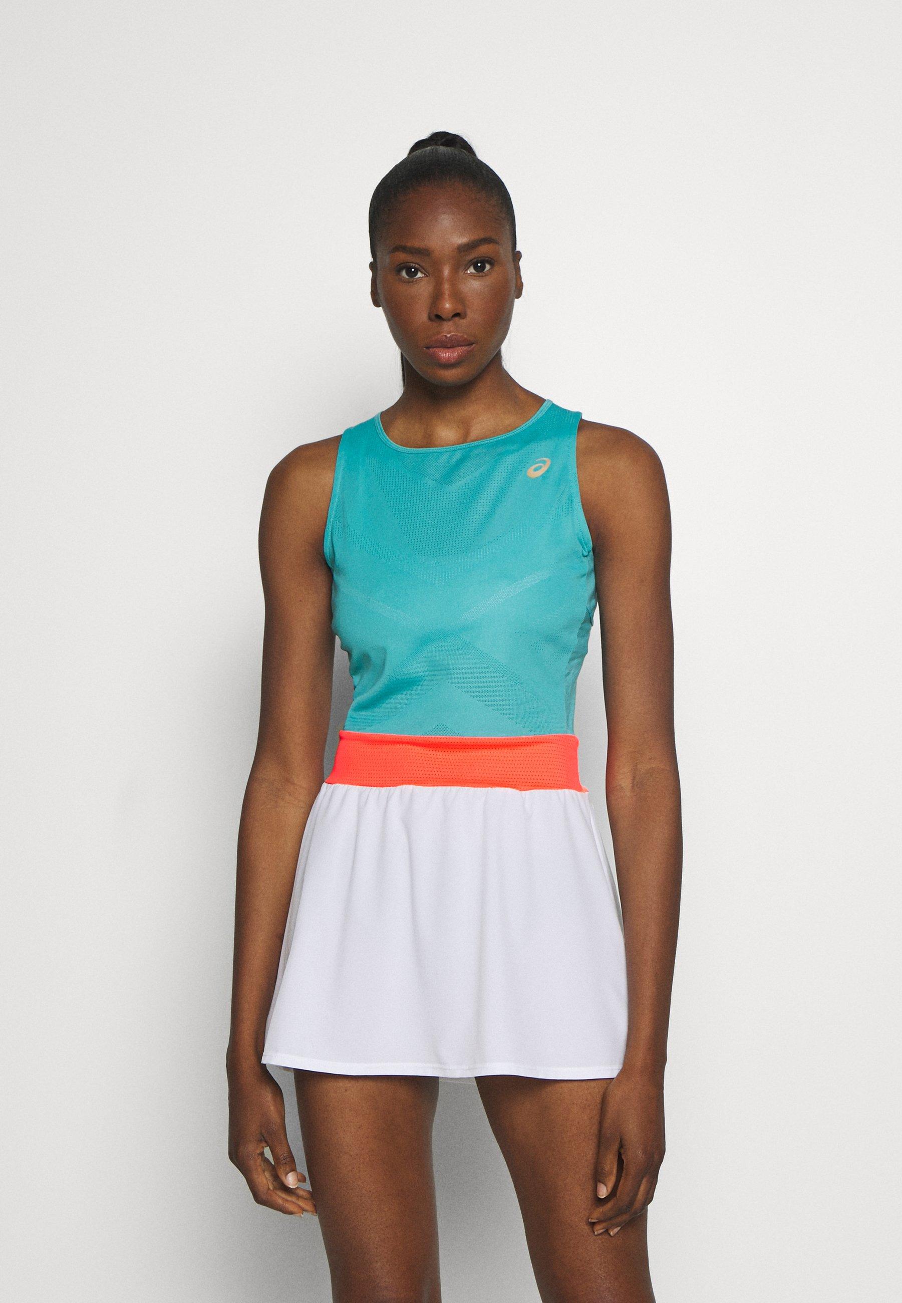 Asics Tennis Dress Jersey Dress Techno Cyan Light Blue Zalando Ie