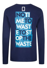National Geographic - MIT PRINT - Long sleeved top - navy - 5