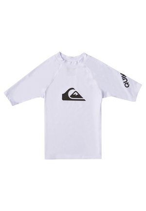 QUIKSILVER™ ALL TIME - KURZÄRMLIGER RASHGUARD MIT UPF 50 FÜR JUN - Rash vest - white