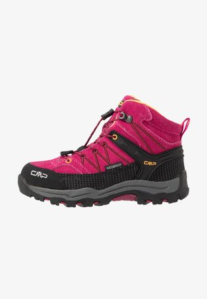 KIDS RIGEL MID SHOE WP UNISEX - Hiking shoes - bouganville/goji