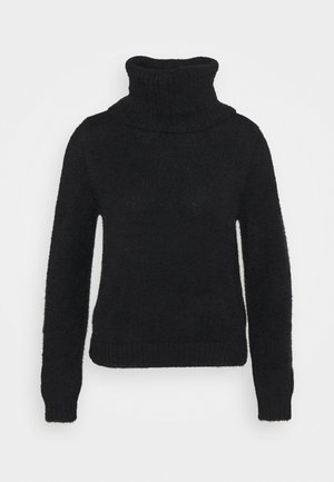 VIFEAMI ROLLNECK TOP - Stickad tröja - black