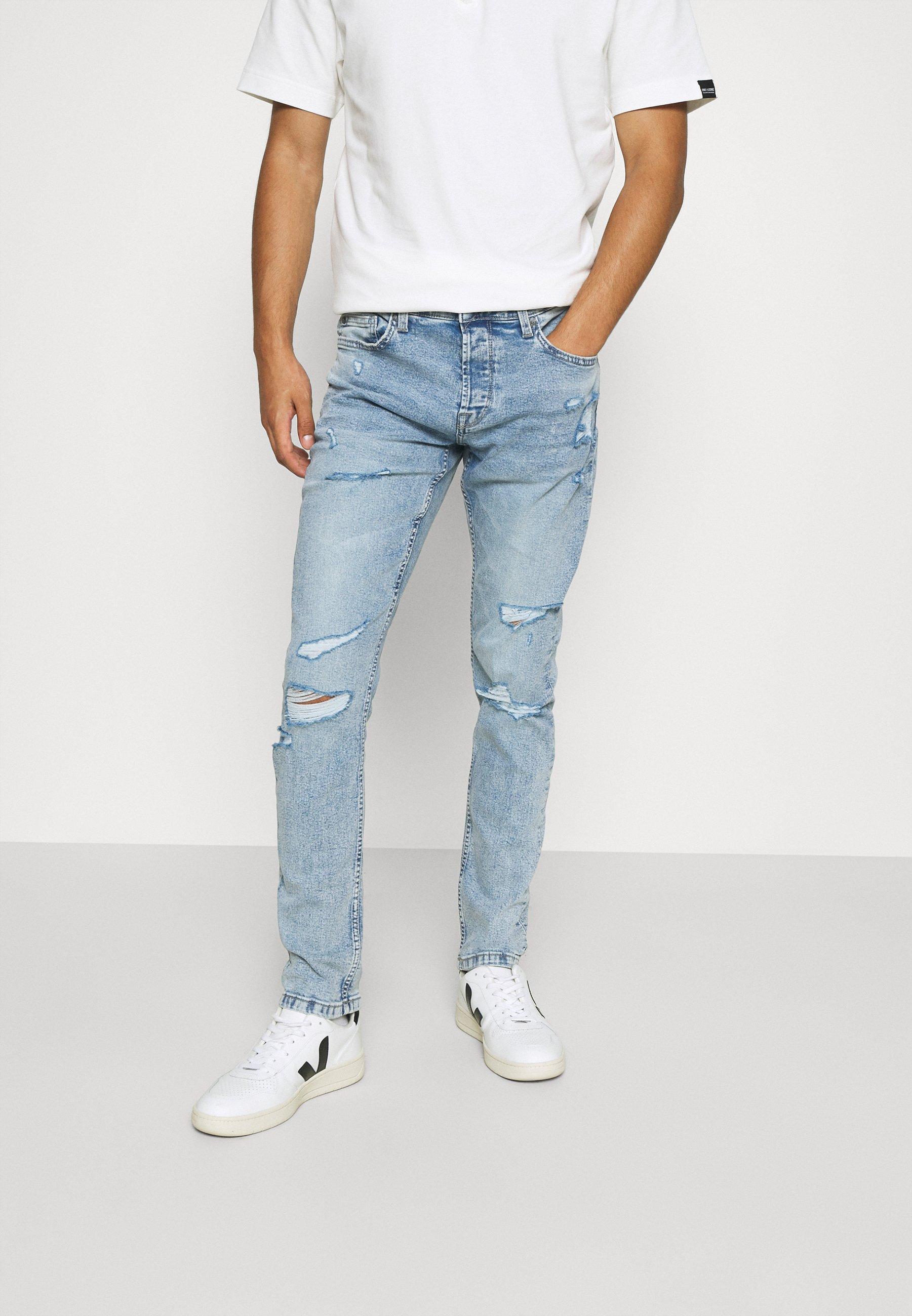 Men ONSLOOM SLIM LIFE BLUEDESTROY  - Slim fit jeans