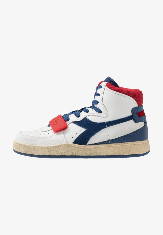 MI BASKET USED - Sneakers hoog - bijou blue/tomato puree
