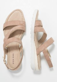 Pier One Wide Fit - Wedge sandals - rose - 3