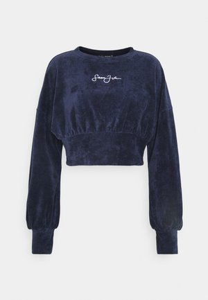 CORSET OVERSIZED CROP - Sweatshirt - navy
