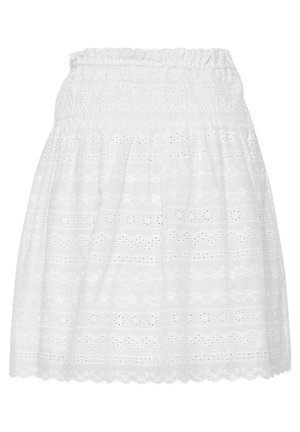 LIGHT WOVEN - A-line skirt - optical white
