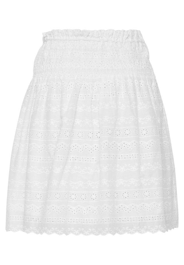 LIGHT WOVEN - A-line skirt - optical white